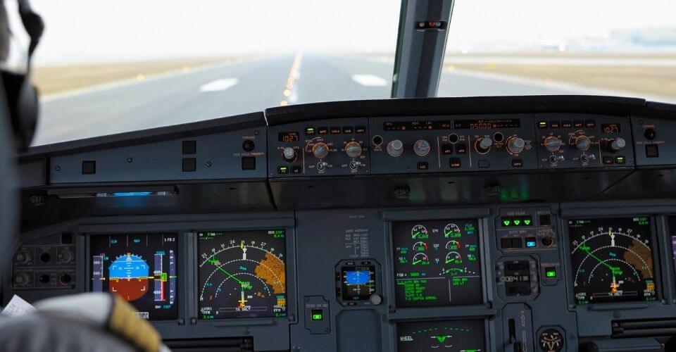 Cockpit på en Airbus